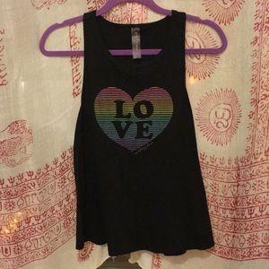 LOVE Rainbow Heart Tank